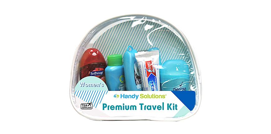 Premium women's 7-piece travel size kit
