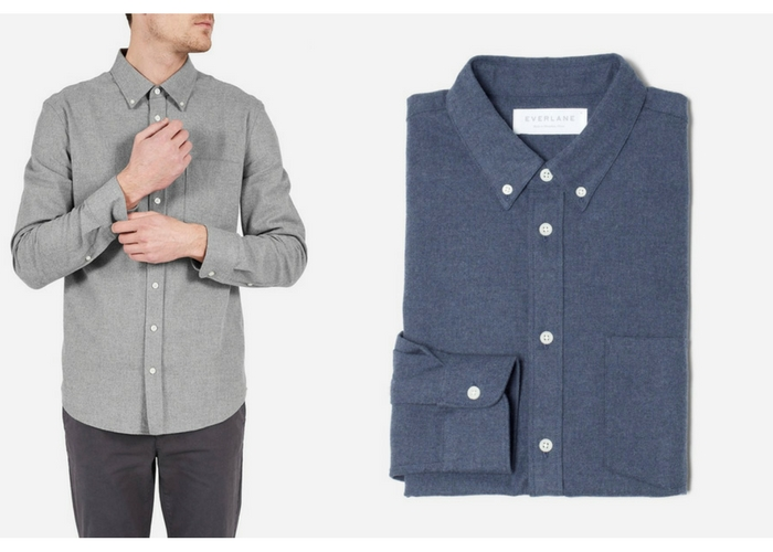 apres ski clothes The Modern Flannel Shirt by Everlane