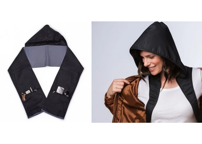 packable rain gear hoods