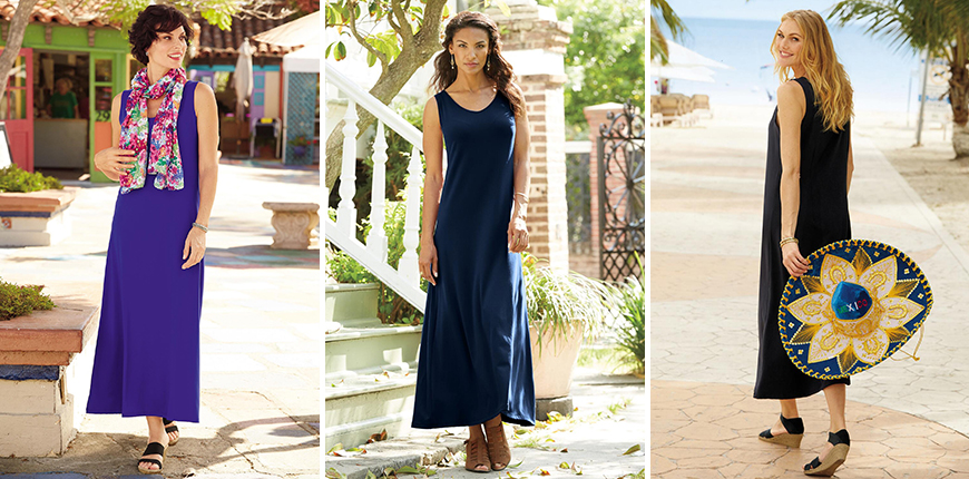 indispensable sleeveless maxi dress