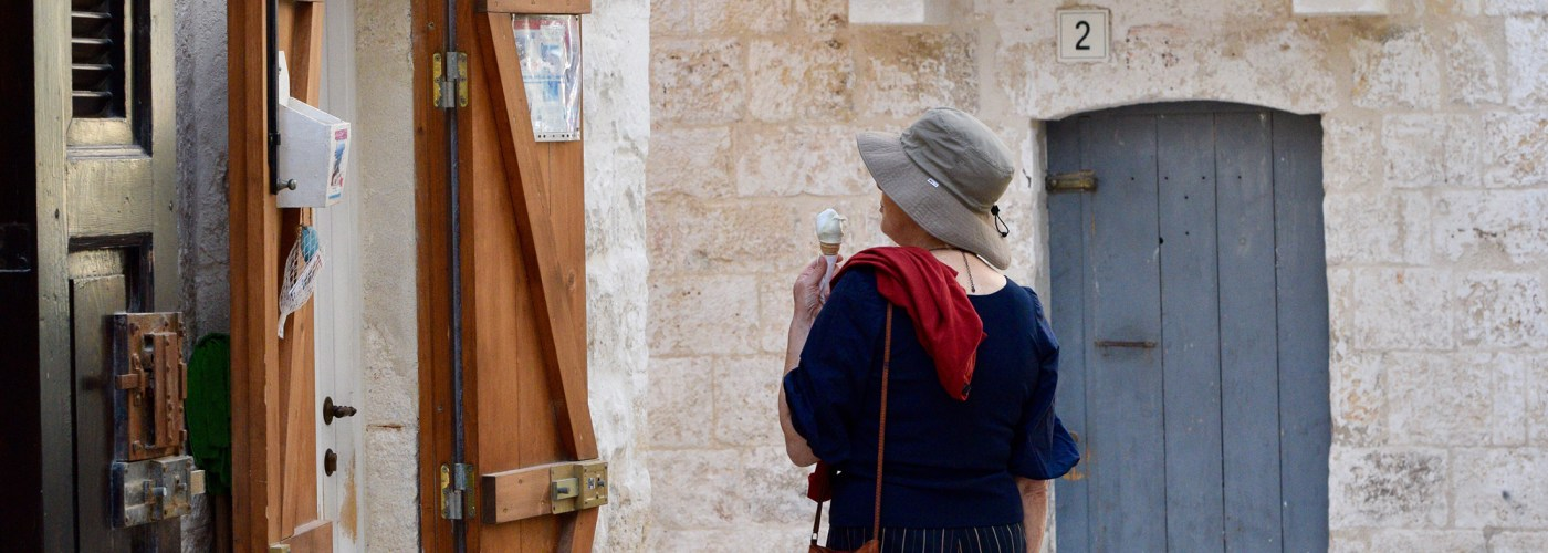 woman on italy street