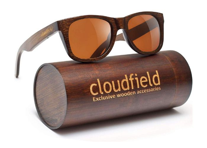 bamboo sunglasses and case