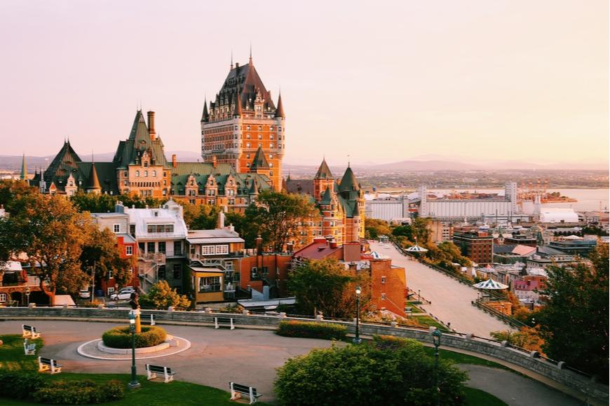 Frontenac in Old Quebec Canada.