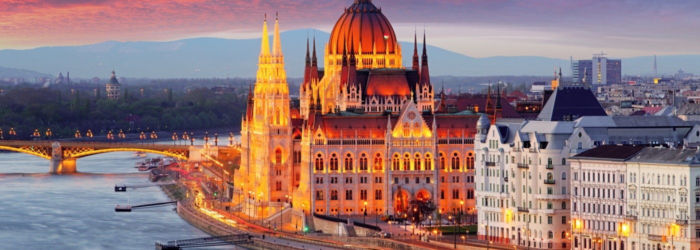 Hungarian Parliament Building at Sunset Budapet.