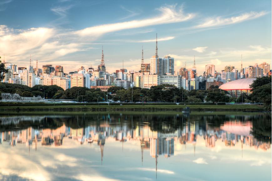 Sao Paulo Brazil reflection.