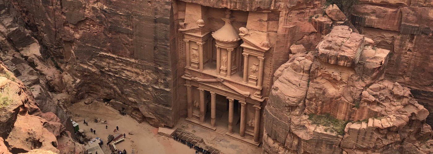 Petra above Jordan travel