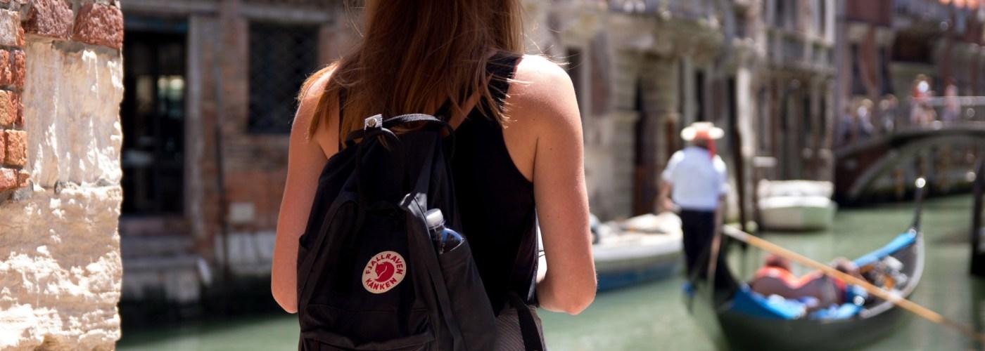 venice italy travel backpack canals gondola