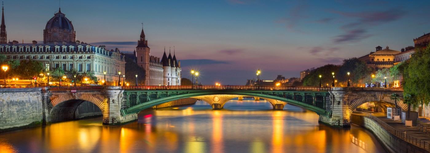 Paris France Riverside View