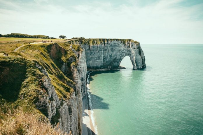 french coastline with arch formation