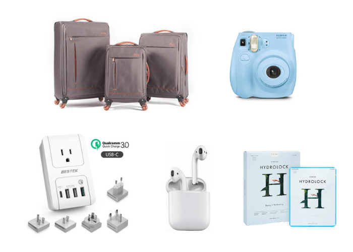 gifts to give yourself luggage camera face masks adapter airpods