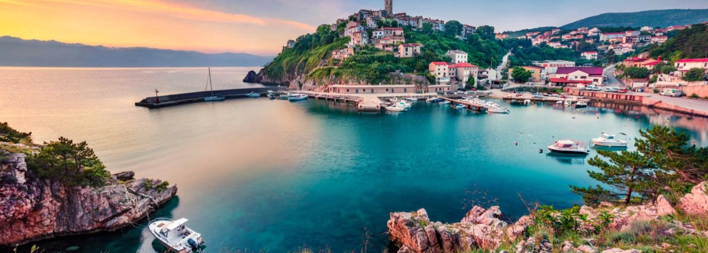 croatian coast on the Adriatic sea
