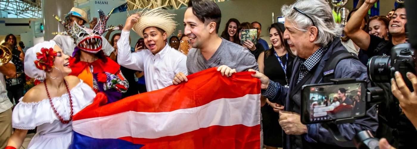 musical star Lin-Manuel Miranda arrives in Puerto Rico for role reprisal of Hamilton