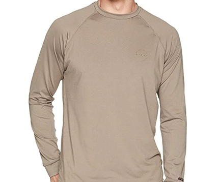 Tan long sleeved sun shirt for men
