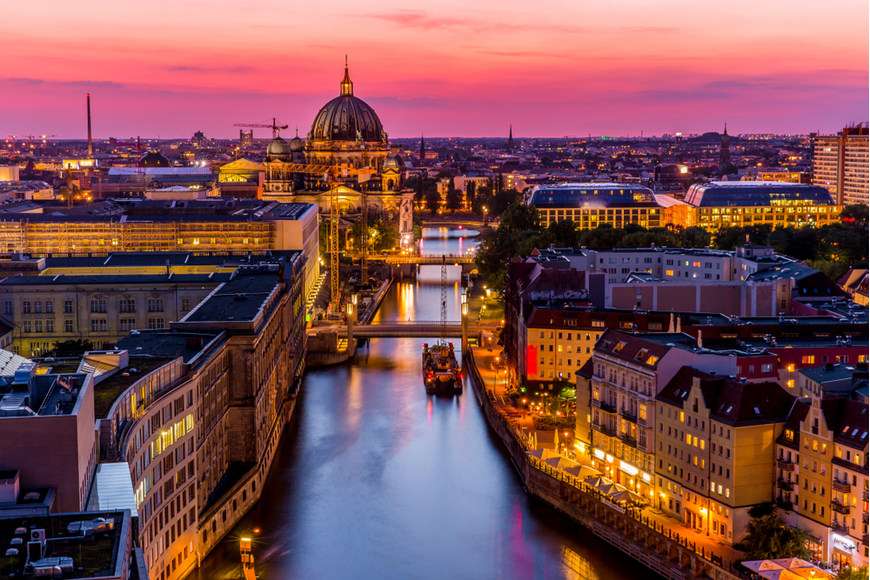 berline germany panoramic view sunset.