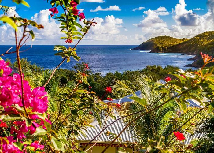 view of coastline on caribbean island