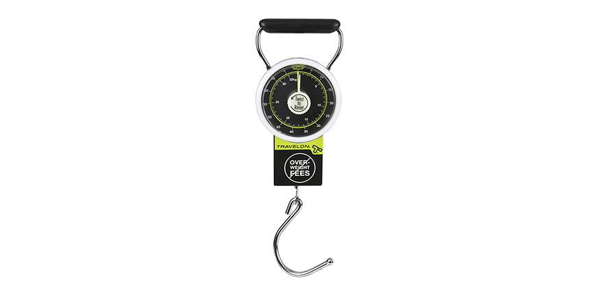 Travelon stop & lock luggage scale
