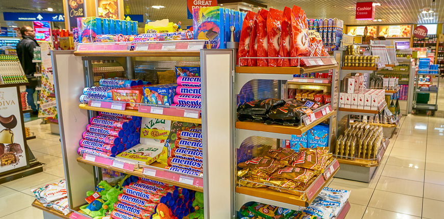 candy for sale duty free airport