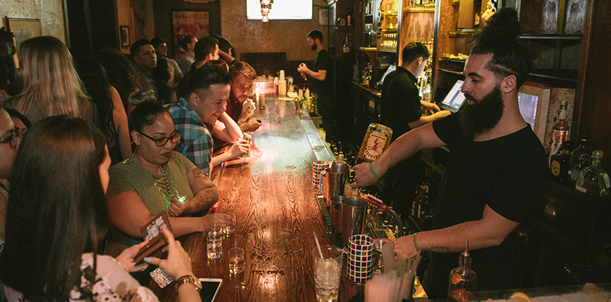 the bar at cuba libre philadelphia.