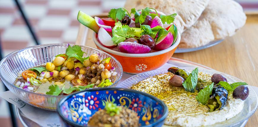 colorful dishes at suraya philadelphia.