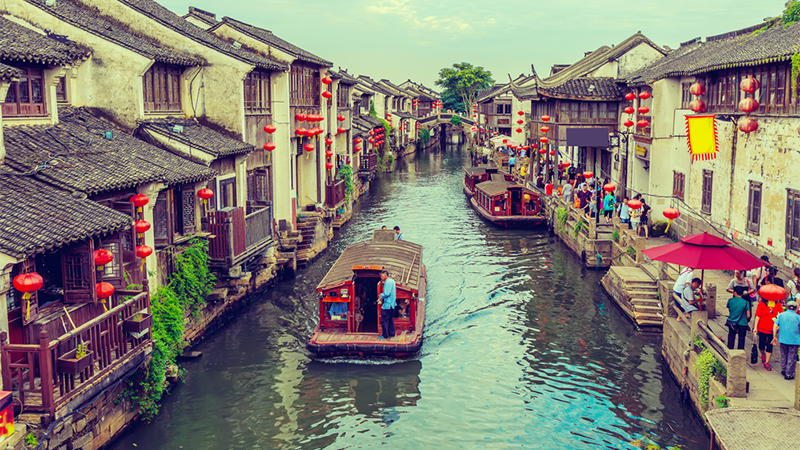 1000-year-old shantang street in suzhou, china.