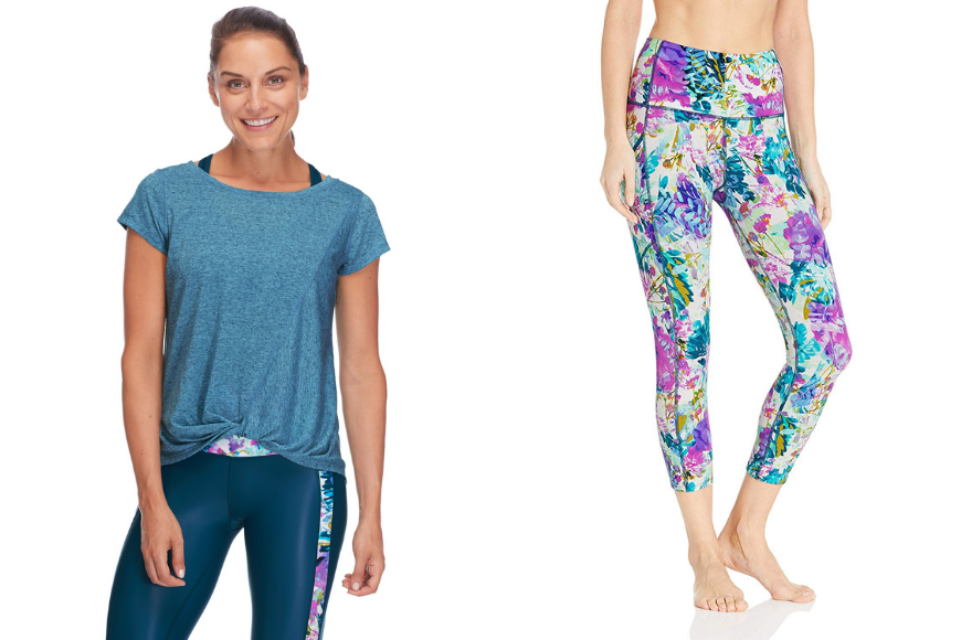 Body glove gale classic boat-neck t-shirt and drift performance fit capri.