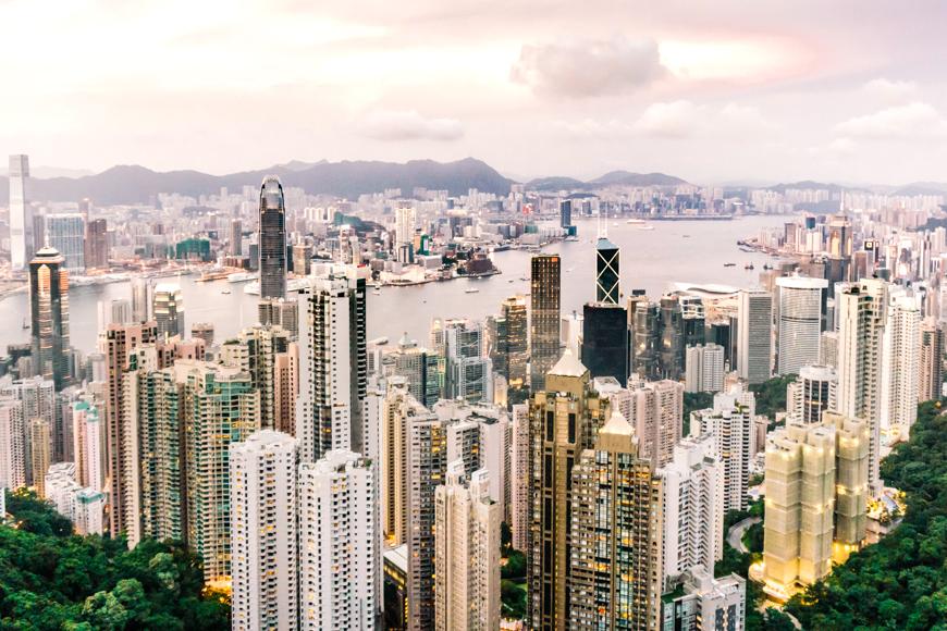 city view of hong kong