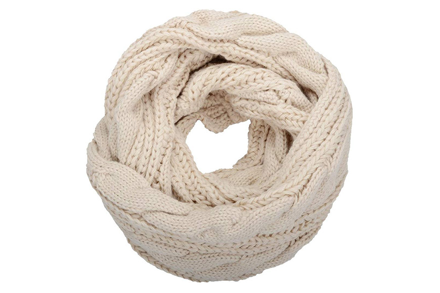 NEOSAN women's thick ribbed knit winter infinity scarf
