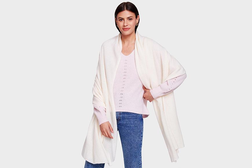 White + warren cashmere travel wrap