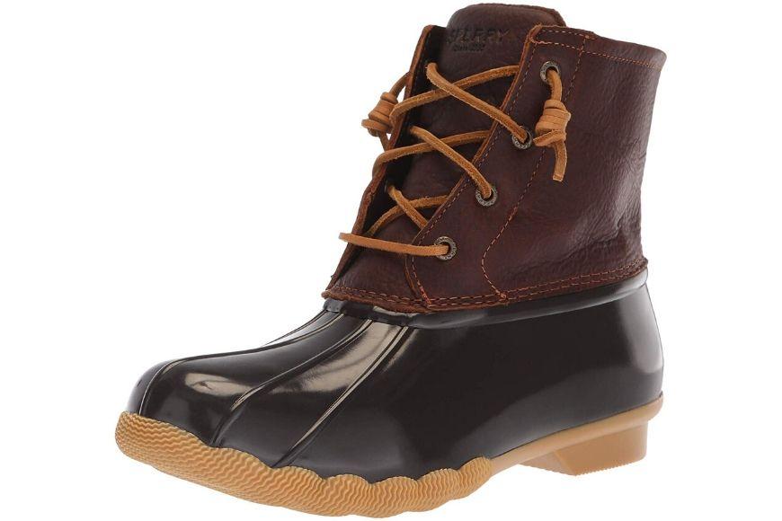 Sperry women's saltwater rain boots.