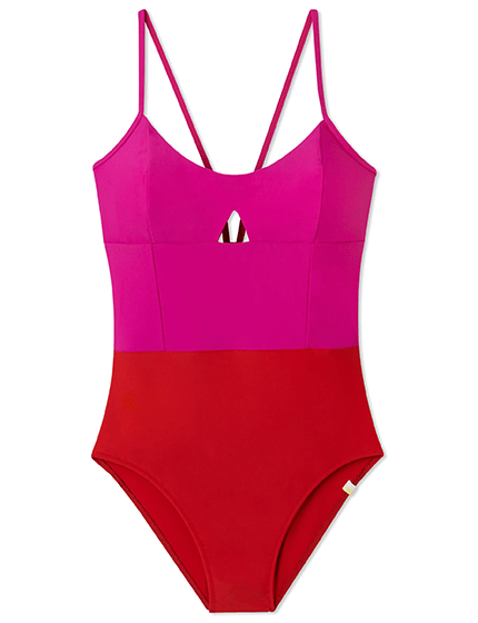 Color block swimsuit by Summersalt
