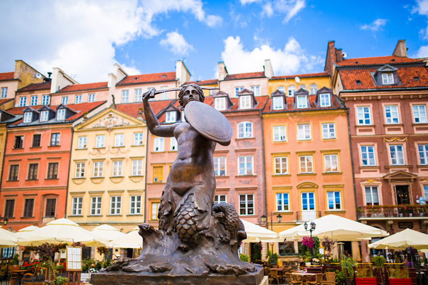 old town warsaw poland.