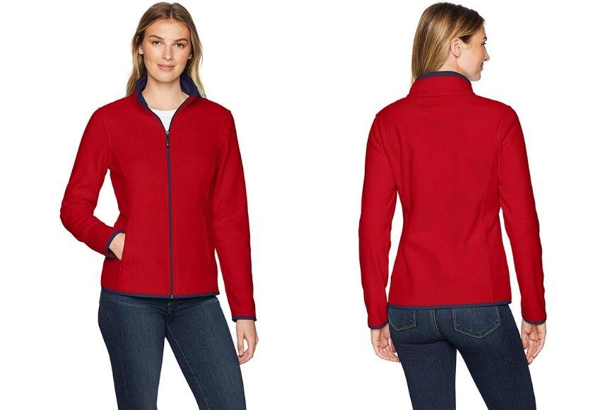Amazon Essentials Women's Full Zip Polar Fleece.