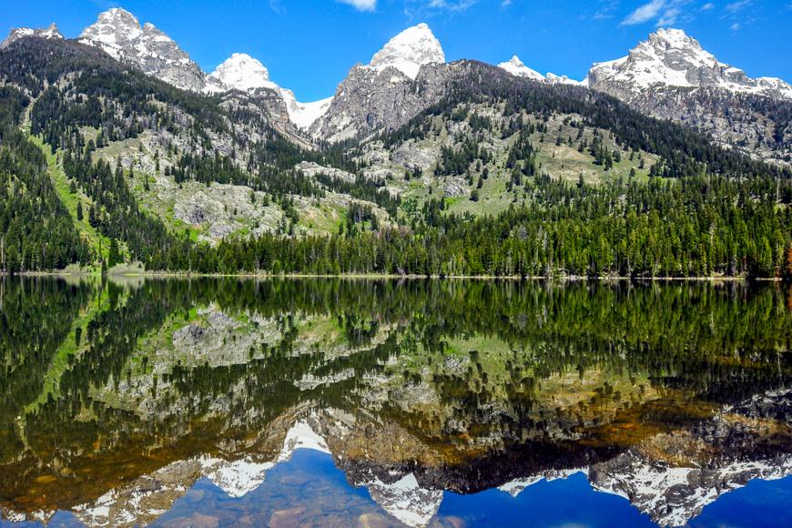 Grand Tetons from Bradley Lake, Grand Teton National Park, Wyoming