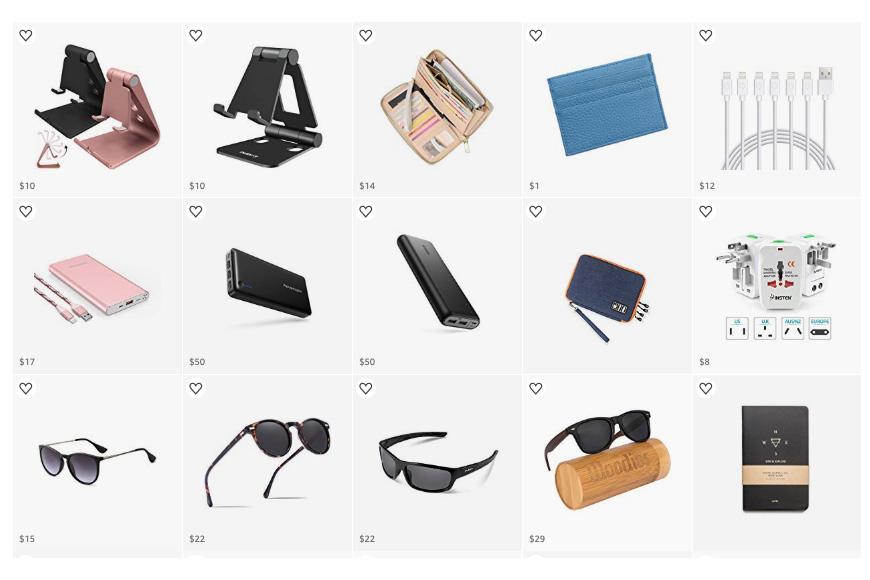 Travel Essentials packing list