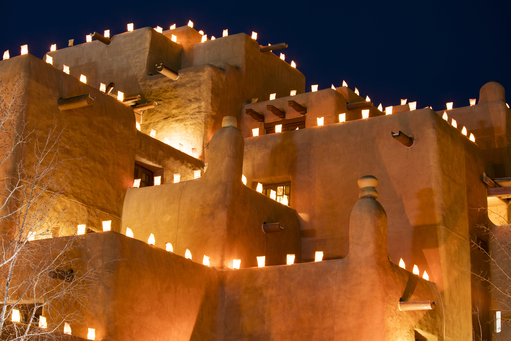lights on adobe in new mexico