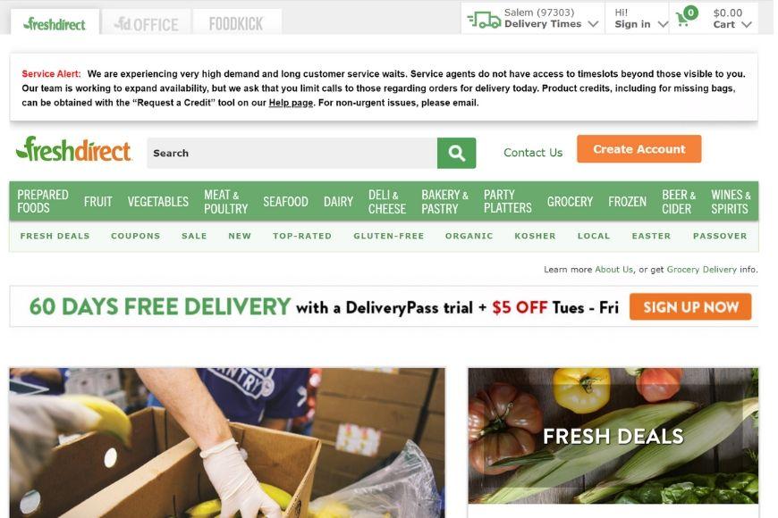 freshdirect_homepage
