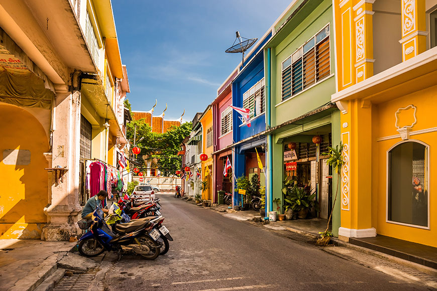 colorful old town phuket.