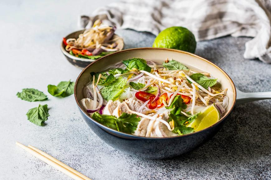 Soupe de nouilles vietnamiennes Pho Ga