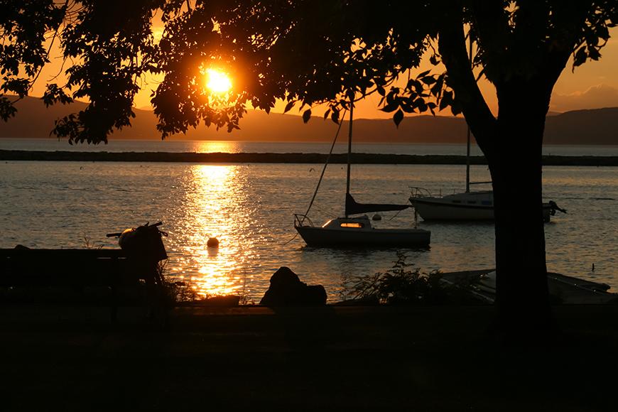 lake champlain sunset.