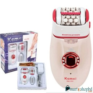 Kemei 3 in 1 KM-1981 New Pain Reduction Technology Callus Remover with extra Lady Epilator & Shaving Head