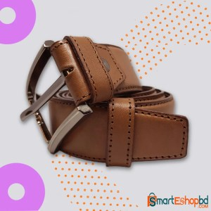 Double layer 100% Genuine Leather Belt Brown
