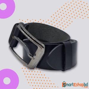Single layer 100% Genuine Leather Belt Black