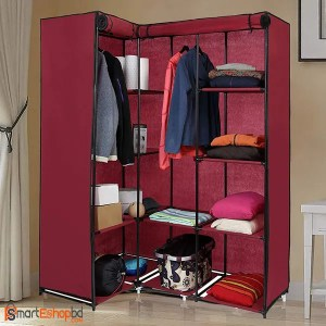 Portable Cloth And Storage Corner  Wardrobe Cabinet | www.smarteshopbd.com