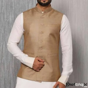 Light Gray Solid Nehru Jacket