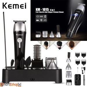 Kemei KM-1015 5 in 1 Rechargeable Hair Trimmer