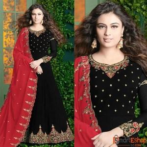 Black Party Wear Anarkali