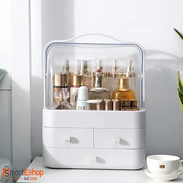 Makeup Organiser Storage Drawers, Portable Acrylic Cosmetic Storage Box with Lid, Dust-Proof and Waterproof, for Dresser & Bathroom