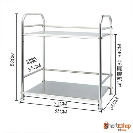 High Quality Stainless Steel Kitchen Rack Microwave Oven Shelf Double Layers