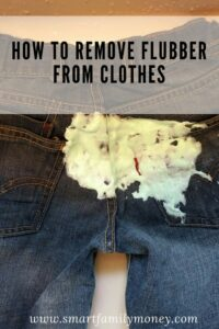 How to Remove Flubber from Clothes