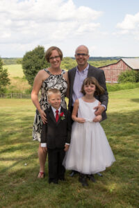 Our family at a wedding in 2015